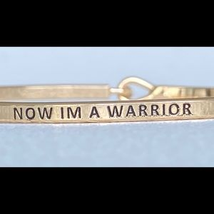 I am warrior inspired bangle bracelet